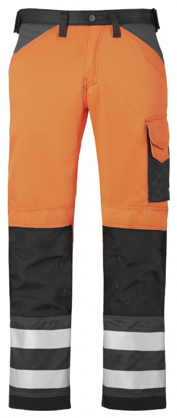 Snickers 3333 High-Vis Trousers, Class 2 (High Vis Orange / Muted Black)